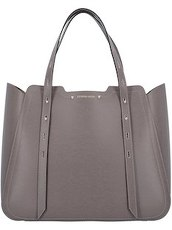 Schultertasche Leder 36 cm Caterina Lucchi greyish brown