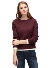 Pullover mit Strickmuster Tom Tailor Denim dark allium purple melange
