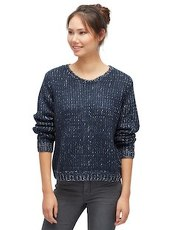 mehrfarbiger Strick-Pullover Tom Tailor Denim dark blue