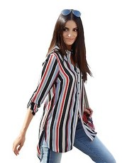 Longbluse AMY VERMONT multicolor
