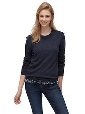Pullover in Melange-Optik Tom Tailor Denim blue meridien melange