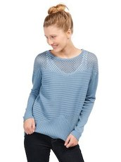 Pullover im Struktur-Mix Tom Tailor Denim light blue indigo