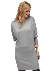 Pullover mit Fledermaus-Ärmeln Tom Tailor Denim light silver grey