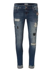 Jeans im Destroyed-Look Betty & Co Blau - Blau