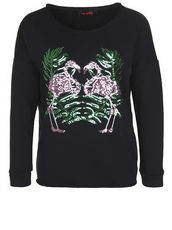 Sweatshirt FLAMINGO miss goodlife black