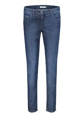 Jeans stonewashed Betty & Co dunkelblau - Blau