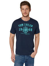 T-Shirt mit Logo-Print Tom Tailor burn umber orange