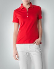 Barbour Damen Tartan Trim Polo Polo-Shirt mit Karo-Detail