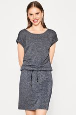 ESPRIT CASUAL Offshoulder-Kleid im Muster-Mix