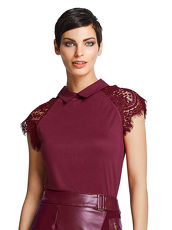 T-Shirt Alba Moda Red bordeaux