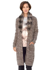 Strickjacke AMY VERMONT taupe meliert