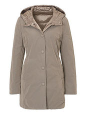 Jacke mit Webpelzkapuze Betty Barclay Golden Amber - Braun