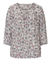 Bluse mit Allover Blumenprint Betty & Co Rose/Cream - Rot