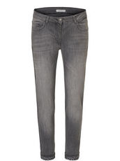 Jeans stonewashed mit Leo Print Saumaufschlag Betty Barclay Grey Denim - Grau