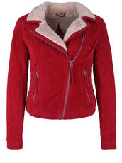 Lederjacke TEDDY STAR FREAKY NATION Red/Birch