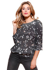 Bluse Betty & Co grau/silber