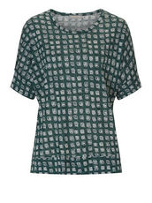 Shirt mit Allover Muster Betty & Co Green/White - Grün