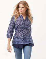 Gerry Weber Bluse 3/4 Arm »3/4 Arm Bluse mit Paisleymuster«