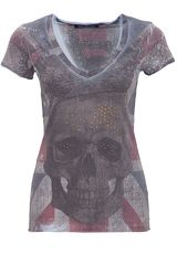 Blue Monkey Print-Shirt »Skull Britain Style-1 17-4919«