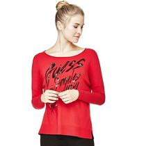 Guess PULLOVER PRINT MIT APPLIKATIONEN