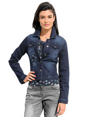 Jeansjacke Alba Moda Green blue denim