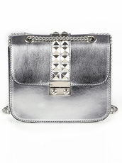 Tasche in Metallic-Optik Alba Moda silber
