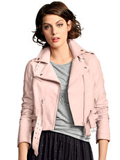 Lederjacke im Bikerstil Alba Moda Red rose