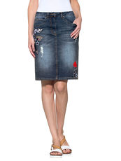 Jeansrock Alba Moda Green blue/denim