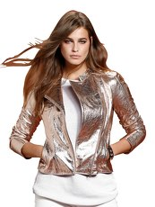 Lederjacke Alba Moda Red rose gold