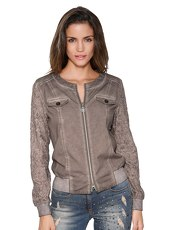 Sweatjacke AMY VERMONT taupe