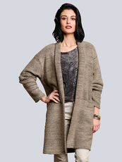 Mantel in Oversized-Form Alba Moda Green taupe