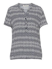 Bluse mit Allover Muster Betty Barclay Dunkelblau/Weiß - Blau
