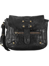 Daytona Umhängetasche Leder 23 cm Billy the kid black