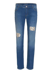 Jeans im Destroyed Look mit 5 Taschen Betty Barclay Blau - Blau