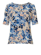 Shirt mit floralem Print Betty Barclay Beige/Blau - Braun