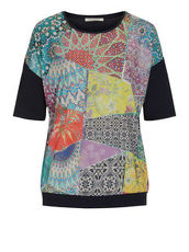Patchwork Shirt mit Mustermix Betty Barclay Bunt - Weiß