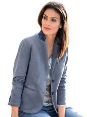 Sweatblazer Alba Moda bleu washed