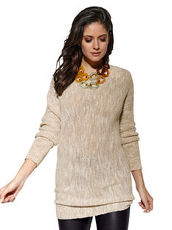 Pullover AMY VERMONT sand meliert