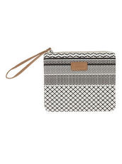 Clutch mit Grafik-Muster Codello off-white