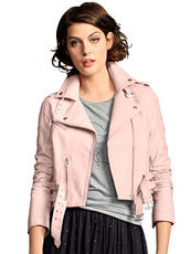 Lederjacke Alba Moda Red rose