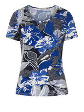 Shirt mit Allover Print Betty Barclay Dunkelblau/Weiß - Blau