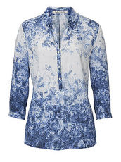 Bluse mit modischem Print Betty Barclay Blau/Blau - Blau
