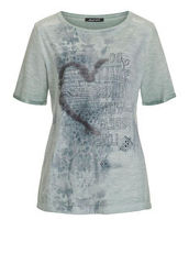 Shirt 'Great Love' mit plaziertem Print und Pailletten Betty Barclay hellblau...