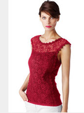 Top Alba Moda Red schwarz