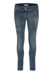 Jeans mit dezenten Destroyed Details Betty & Co Blau - Blau