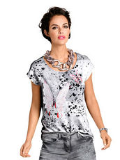 Top Alba Moda Red grau-rosa