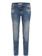 Jeans Regular Fit mit Blütenstickerei Betty Barclay Blau - Blau