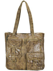 Avery Schultertasche Leder 34 cm Billy the kid honey