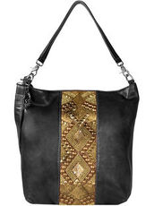 Zari Shopper Tasche Leder 37 cm Billy the kid black