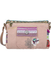 Bols Toulouse Military Deluxe 2 Umhängetasche 25 cm Desigual rosa carnal